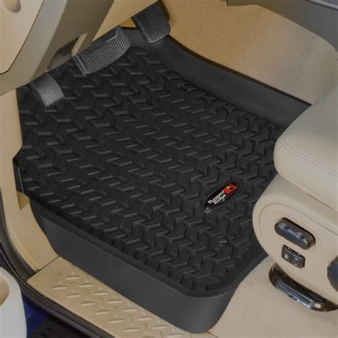 Rugged Ridge Floor Mats by Rugged Ridge Ford F250 F350 11 12 Front Floor Liners