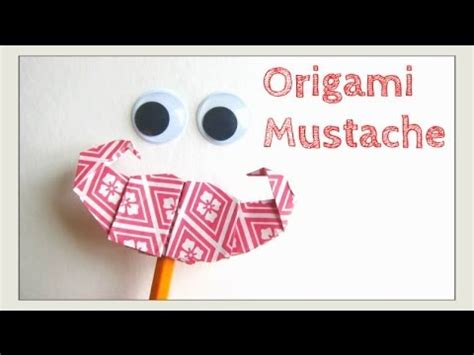 How To Make A Paper Moustache - s day crafts origami mustache moustache how to