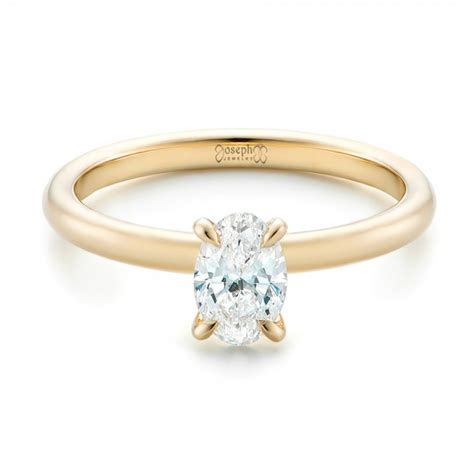 Yellow Gold Solitaire Engagement Rings And by Custom Solitaire And Yellow Gold Engagement Ring