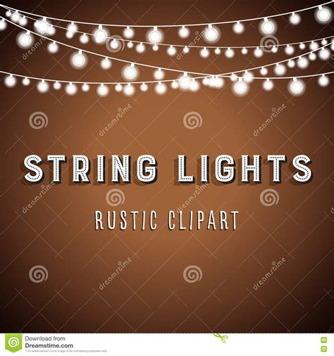 rustic string lights rustic string lights background stock vector image 76680244