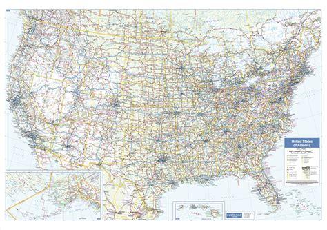 large usa wall map usa wall map large