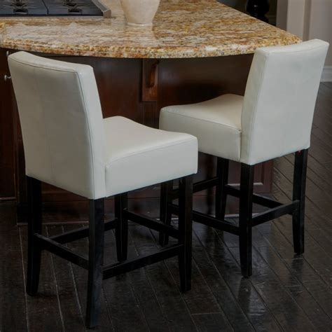 white leather counter height chairs furniture square white leather bar stools with back