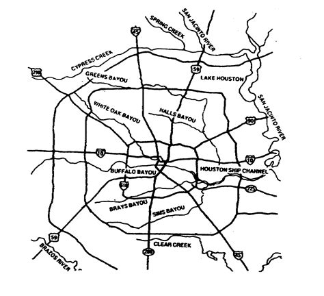 houston map black and white paddle places for houston