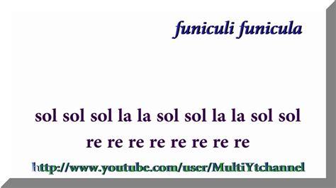 testo funiculì funiculà funiculi funicula with accompaniment flauta dulce