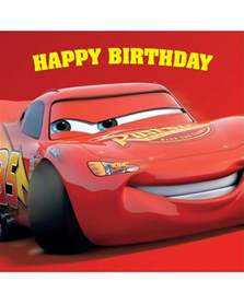 cars square birthday card party supplies