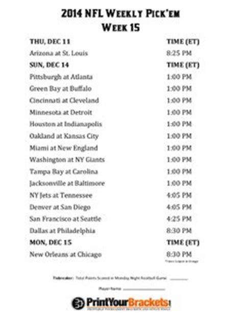 printable nfl schedule with betting line five see printable nfl schedule autos post