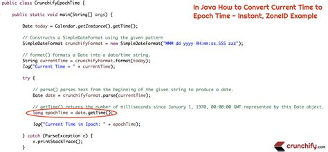 format date using java in java how to convert current time to epoch time