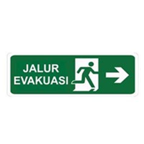 Stiker Tanda Jalur Evakuasi jual produk safety sign tanda keselamatan dari pt kalsa