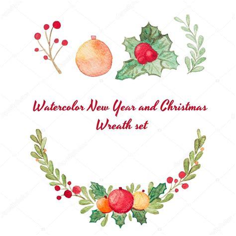 google gr art christmas cards 手绘水彩光栅圣诞花环设置隔离上白色 完美的请柬 贺卡 报价单 博客 婚礼帧 海报和更多 图库照片 169 wedphoto 91534720