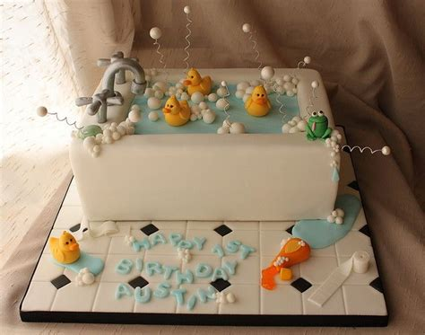 Cake Bathtub bath tub cake with rubber duckies by andrea s sweetcakes