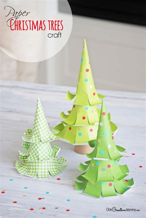 Amazing Paper Crafts - the cutest paper trees onecreativemommy