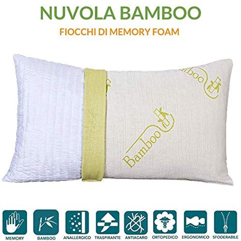 cuscini per cervicali evergreenweb cuscino fiocco di memory foam con fodera