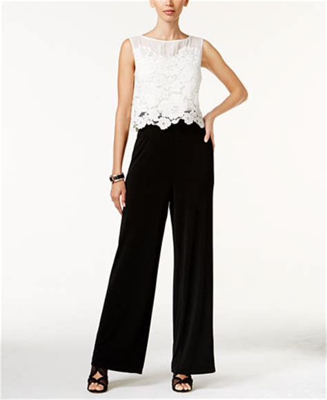dressy jumpsuits at macys for women thalia sodi lace overlay jumpsuit only at macy s pants