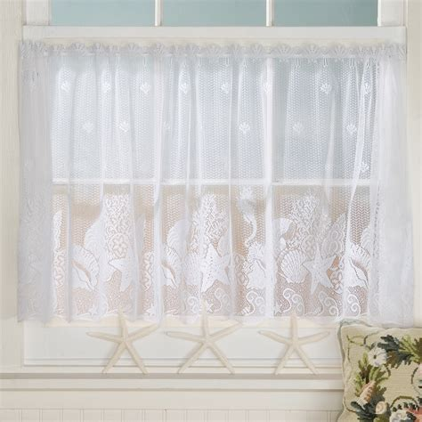 seashell curtain seashell lace curtains sturbridge yankee workshop
