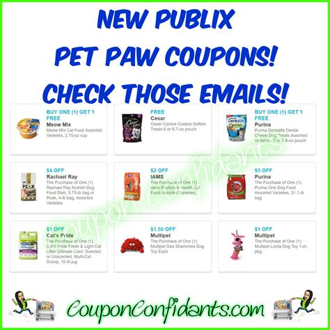 free printable grocery coupons publix publix pet paw coupons coupon confidants