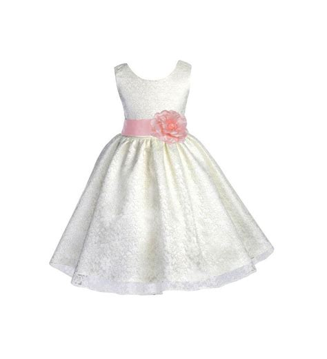 White Flower Dress Size M ivory flower dress size 6