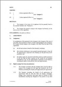 patent template assignment agreement form