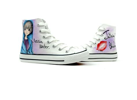 justin bieber shoes justin bieber custom canvas shoes justin bieber photo