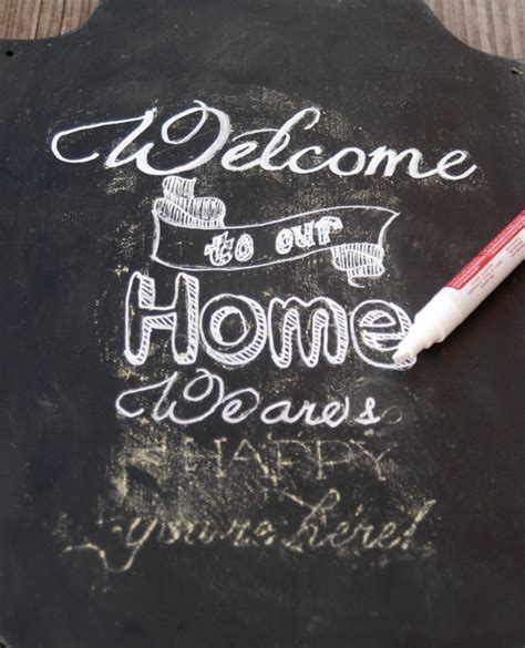 Diy Chalkboard Sign The House