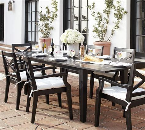 Patio Dining Sets Pottery Barn Hstead Painted Rectangular Extending Dining Table Chair