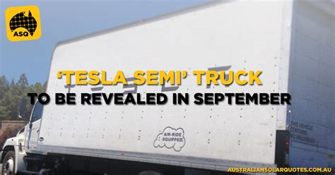 tesla semi truck to be revealed in september this year