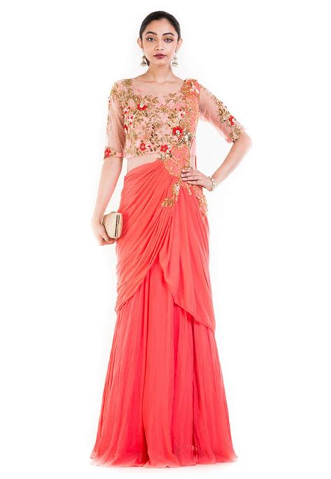 And Gown by About The Designer Saree Gowns Utsavpedia