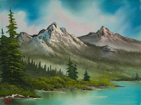 can you buy bob ross paintings bob ross peaceful pines paintings for sale paintings biz