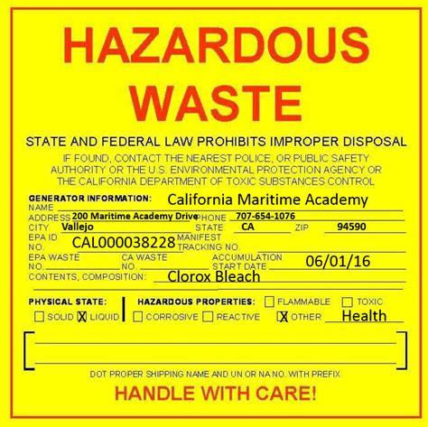 Blog Archives Consumerrevizion Free Hazardous Waste Label Template