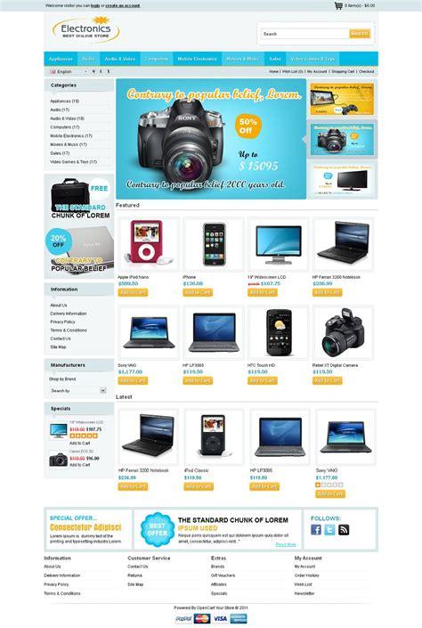 wordpress themes electronics store opc040100 premium opencart electronics store theme