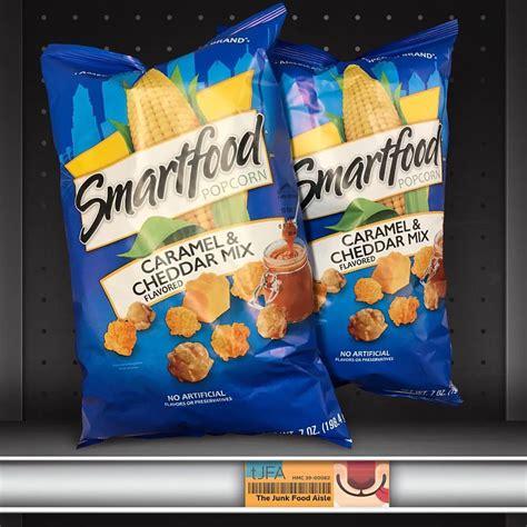smartfood popcorn caramel cheddar mix  junk food aisle