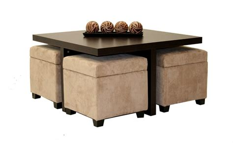coffee table with 4 ottomans coffee table with pull out ottomans roy home design