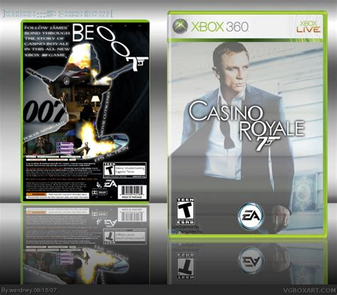 royale xbox 360 007 casino royale xbox 360 box cover by werdney
