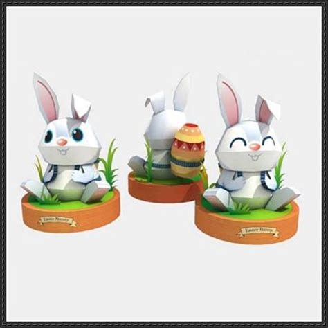 Easter Paper Crafts Free - easter papercraft easter bunny free template