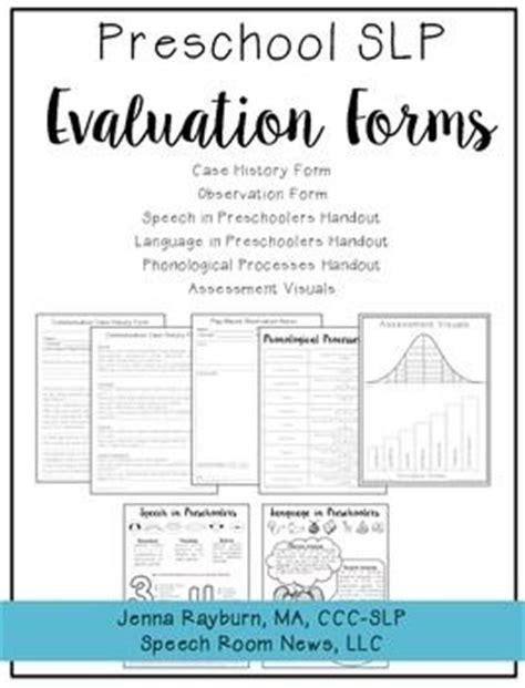 preschool speech language evaluation report template 17 best ideas about preschool assessment forms on