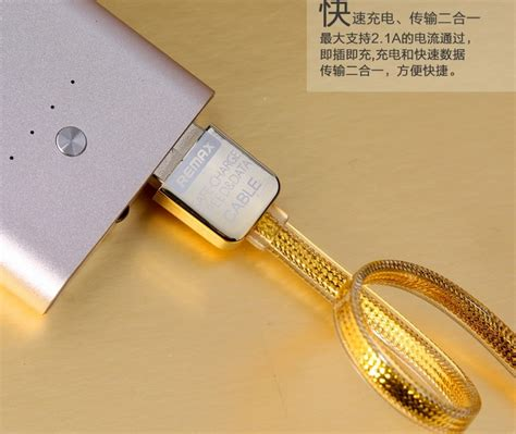 Kabel Data Gold Cable Usb To Micro Golden Hp Smartphone Ponsel Cas remax gold lightning braided cable for iphone 5 6 7 8 x