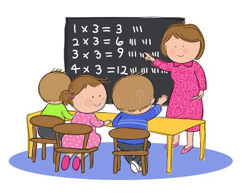 imagenes niños estudiando matematicas ni 241 os en clase de la matem 225 ticas ilustraci 243 n del vector