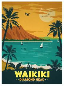 vintage travel posters Hawaii   Google Search   Things to