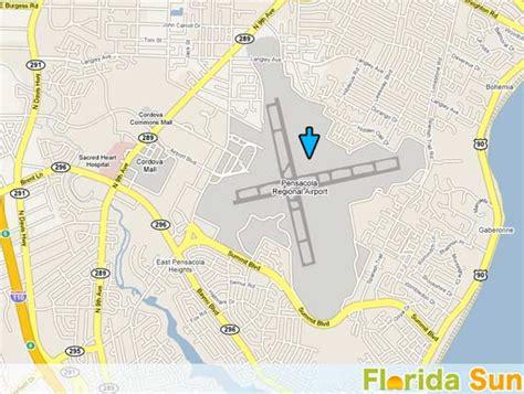 Pensacola Regional Airport   Rental Car Map
