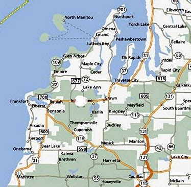 Northern Michigan Map by Quotes About Lake Towns Quotesgram