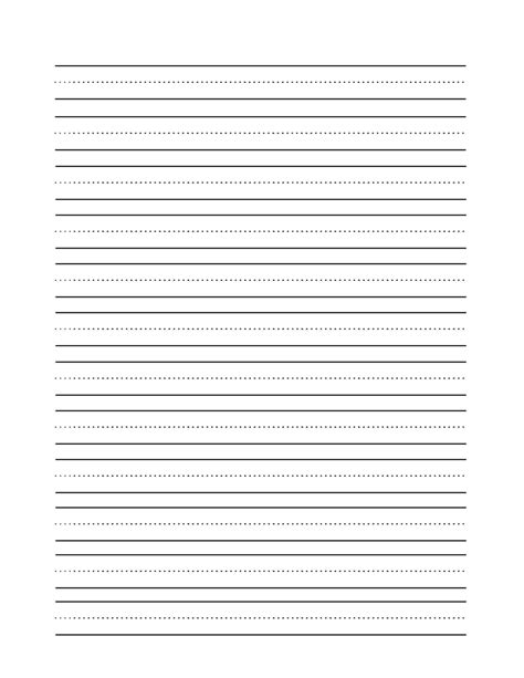 blank writing template free printable story paper for second grade reading