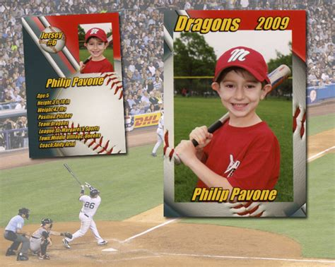 Baseball Card Statistics Template by Jasienowski Studio Sports Items