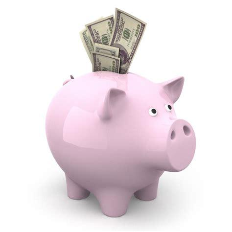 piggy bank with money lightwave piggy bank
