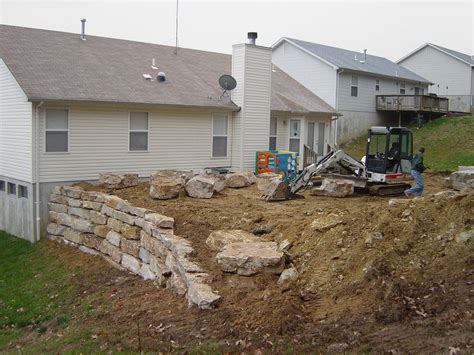 retaining wall to level backyard walls patios 2