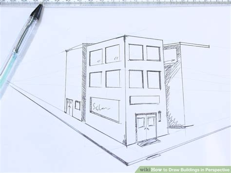 drawing structure how to draw buildings in perspective 9 steps with pictures
