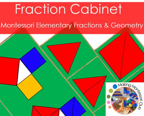 montessori fractions printable montessori fraction cabinet materials making montessori