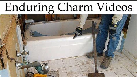 removing a bathtub how to remove a bathtub youtube