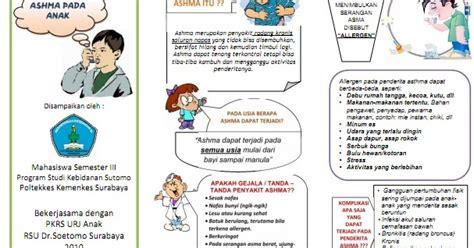 format askep asma pada anak kumpulan materi kebidanan sap dan leaflet asma pada anak