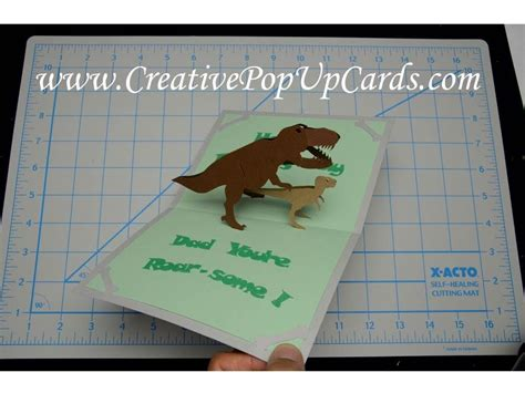 Dinosaur Pop Up Card Template by S Day Dinosaur Pop Up Card Tutorial