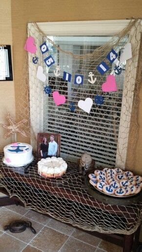 themed bridal shower decorations best 25 nautical bridal showers ideas on