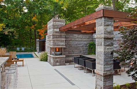 Indoor Stone Fireplace shaded to perfection elegant pergola designs for the